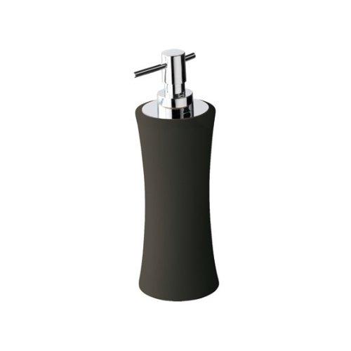 Gedy dosasapone antracite mughetto con pompetta in cromo mu80 classico accessori ceramica per arredo bagno set kit