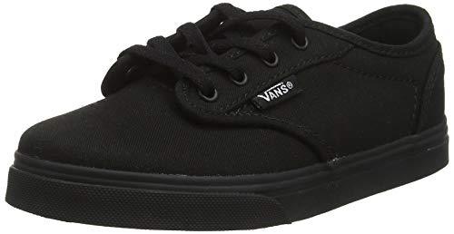 Vans Mädchen Atwood Low Textile Sneaker, Schwarz ((Canvas) Black 186), 32 EU Mädchen Vans