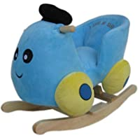 NEW Plush BLUE CAR Childs Rocker Rocking Chair with Sound Effects - 1 Year + ** WJ-643B**