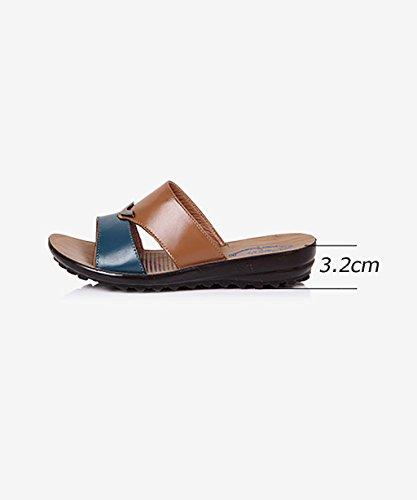 CHAOXIANG Pantofole Da Donna Antiscivolo Con tacco Ciabatte Piatte Sandali Da Surf Nuova Estate Ciabatte Spiaggia ( Colore : A , dimensioni : EU38/UK5/CN39 ) A