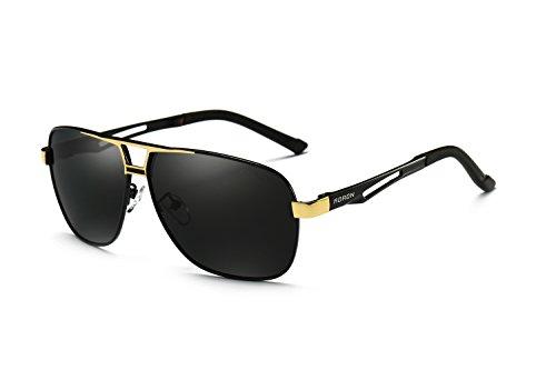 AORON Polarisierte Herren Sonnenbrille Polarisierte Outdoor Sportbrille 100{227e08e60ad983aab5232e698f96d6a8590d60a7263a1f079dbc7fe08c6b96f8} UV400 Schutz Fahren Sonnenbrille (Gold)
