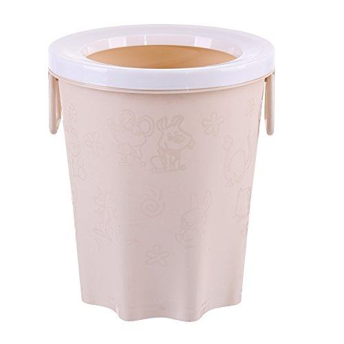Das Büro mit Hochdruckreiniger Warenkorb Kunststoff keine Abdeckung Runde Küche Hygiene Eimer, Beige