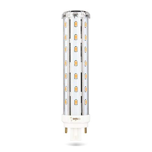 G24 Q 830/840 4-Pin LED Lampe Wenscha 13W LED G24 Ersatz 26W PL-C Röhre Lampe G24q-1/G24q-2/G24q-3 Horizontal Einbausockel, 360 Grad, nicht dimmbar, Warm White-3000k, G24Q, 12.00W 230.00V -