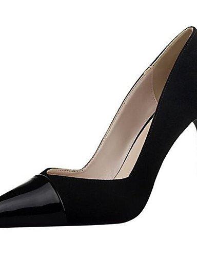 WSS 2016 Chaussures Femme-Habillé / Soirée & Evénement-Noir / Rose / Rouge / Gris / Bordeaux-Talon Aiguille-Talons-Talons-Synthétique black-us8.5 / eu39 / uk6.5 / cn40