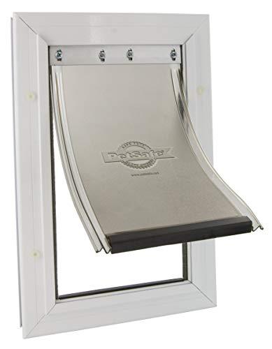 PetSafe - Chatière Staywell Moyenne Robuste en Aluminium (M) pour Chien, Avec Système de Verrouillage - Robuste - Isolante