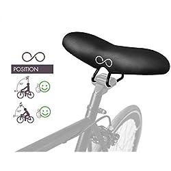 Disfruta de la bicicleta con el nuevo sellOttO-II-A20 ?Flecha? estilo blando - Sillín bicicleta cómodo Gel Hombre Mujer para montana - No hay ninguna presión en la zona genital ni en el coxis