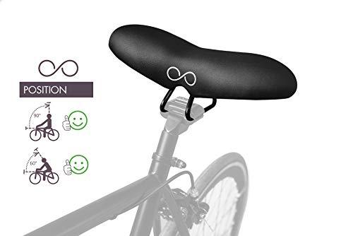 Goditi la Bici con l'innovativo sellOttO-II-A20 Freccia la Sella Morbida Salva prostata in Gel | Consigliato per Bicicletta MTB Strada Elettrica