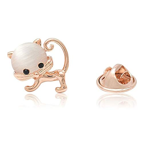 Niedliche Stein Kitty Cat Kragen Pin Mini Tier Brosche