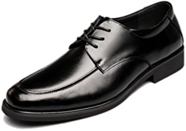 NIUMJ BusinessSchuhe Britische Schuhe Koreanische Version Spitze Leder Mode Schuhe Sätze von Füßen Mode Herrenschuhe
