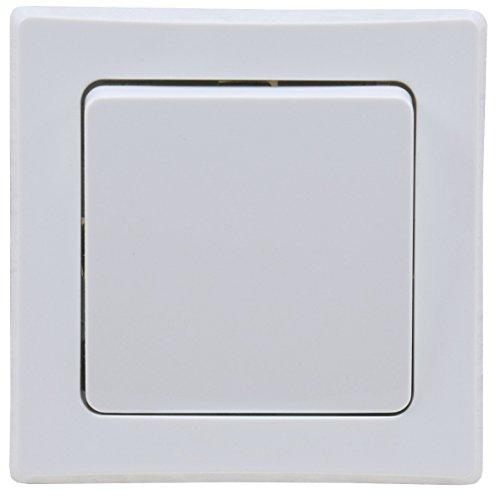 DELPHI Taster Klingel-Taster Unterputz Einbau Unterputz inkl. Rahmen weiß
