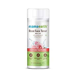 Mamaearth Rose Water Face Toner with Witch Hazel & Rose Water for Pore Tightening - 200ml