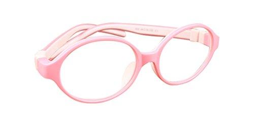 De Ding Kinder Silikon Optische Kurzsichtige Brillen Rahmen Mehrfarbig PinkWhite