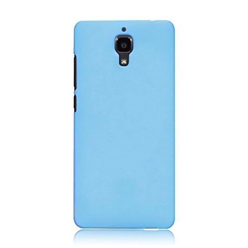 WOW Imagine Matte Rubberised Hard Case Back Cover For XIAOMI MI 4 MI4 (Sky Blue)