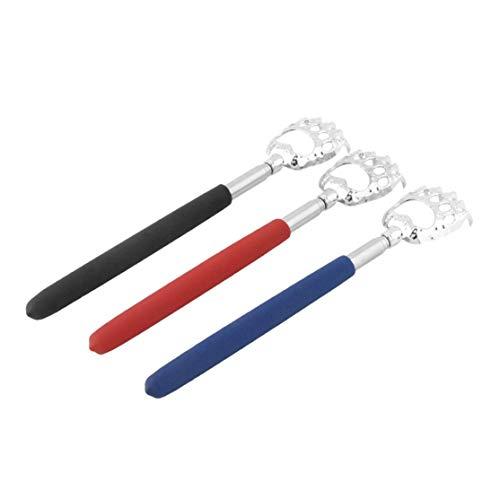 LouiseEvel215 10 stücke Bärenklaue gesunde Back Scratcher Zink-Legierung Tragbare Erweiterbar Handliche Tasche Stift Clip Back Scratcher (Back Scratcher Erweiterbar)