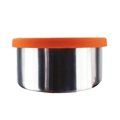 TLfyajJ 100/220 / 400ml Edelstahlschüssel Frische Crisper Versiegelte Brotdose mit Deckel, plastikfrei, auslaufsicher | Geeignet Für Erwachsene Und Kinder | 100ml (Planetbox-lunch-box)