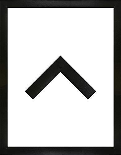 Morena Holz Werkstoff Bilderrahmen 25 x 65 cm modernes sehr eckiges Profil 65 x 25 cm grosse Farbauswahl jetzt: Schwarz Hochglanz mit Kunstglas klar 1 mm