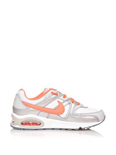 Nike Air Max Command (Ps), Chaussures Mixte Enfant White/Bright mango-Metallic silver-Mgn