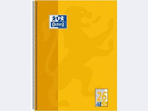 Oxford Schule Collegeblock A4+, 80Bl Lin26 kar. weiß. Rand re., 5er-Pack -