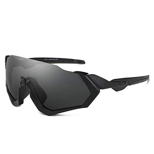 Sport-Sonnenbrillen, Vintage Sonnenbrillen, Oversize Men Sunglasses Sport Large Frame Black Sun Glasses Windproof Eyewear Women Fashion Driving Coating Spiegel Shades With Hard Case C1