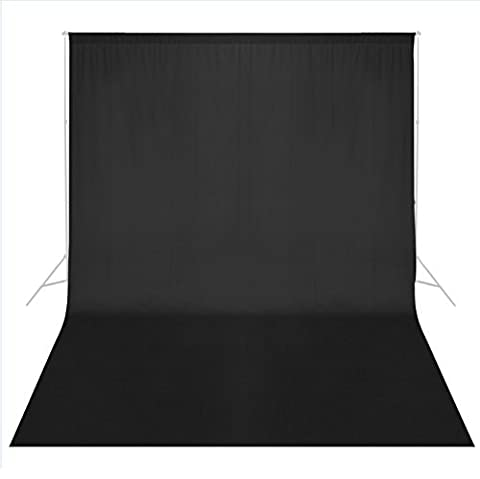 Phot-R 3mx6m Professional Photo Studio 100% Coton Muslin Lavable en machine Backdrop Fond noir écran Photographie
