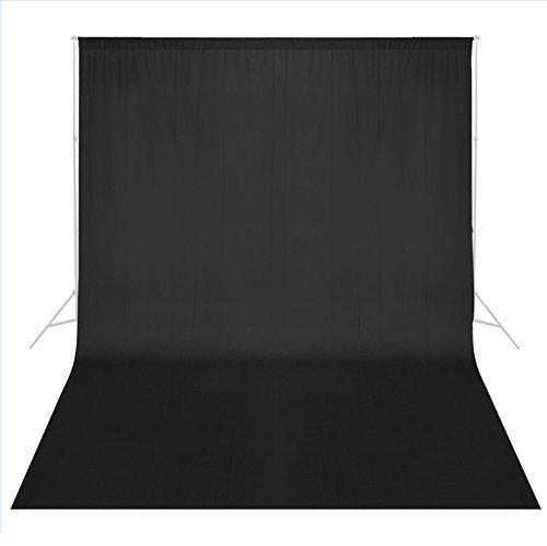 Phot-R 1.8mx3m professionale Photo Video Studio 100% mussola di cotone Lavabile in lavatrice del contesto sfondo dello schermo nero Fotografia