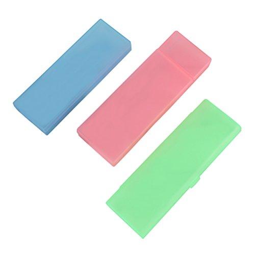 Toymytoy custodia portapenne astuccio rigido mini astuccio portapenne in plastica trasparente per cancelleria,3pezzi
