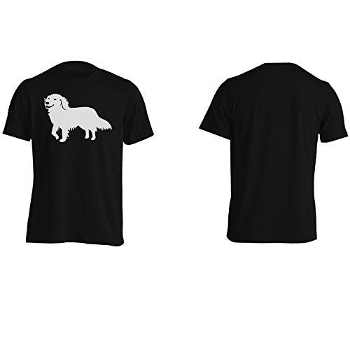 Golden Retriever Uomo T-shirt j849m Black
