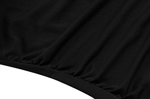 ZEARO Nouvelle Femme Sexy T-shirt Débardeur Col Bénitier Veste Tops Gilet Sans Manches Décontracté Mince Noir