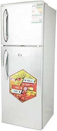 Nikai Defrost Double Door Refrigerator 4.7Cubic Feet, Silver - NRF170DS19
