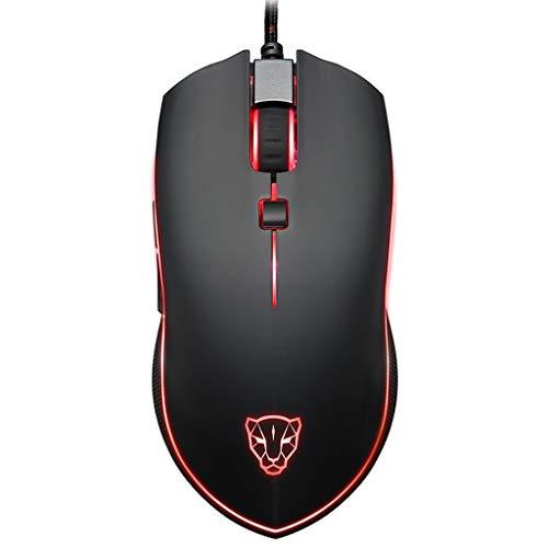 MOTOSPEED V40 Kabelgebundene Gaming Maus, 6 Tasten Cobra Gaming Maus mit 16,8 Millionen RGB Farben mit Hintergrund Beleuchtung, 4000 DPI einstellbar, komfortabler Griff, 8 Programmierbare Tasten - Cobra Usb-maus