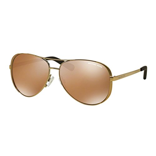 Michael kors occhiali da sole - uomo gold with goldmirrorpolarized lens