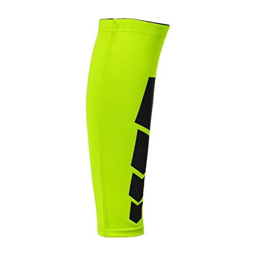 Sportbein Wadenbeinorthese Unterstützung Stretch-Ärmel Kompressions-Trainingsgerät Unisex-Beinschutz für Outdoor-Sportarten (Farbe: fluoreszierend grün) (Größe: L) -