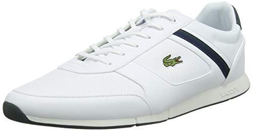 Französisch-cut Unterwäsche (Lacoste Herren Menerva Sport 319 1 CMA Sneaker, Weiß (Wht/Dk Grn 1r5), 43 EU)