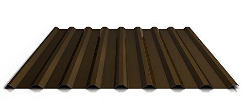 Trapezblech | Profilblech | Dachblech | Profil PS20/1100TRA | Material Stahl | Stärke 0,40 mm | Beschichtung 25 µm | Farbe Dunkelbraun