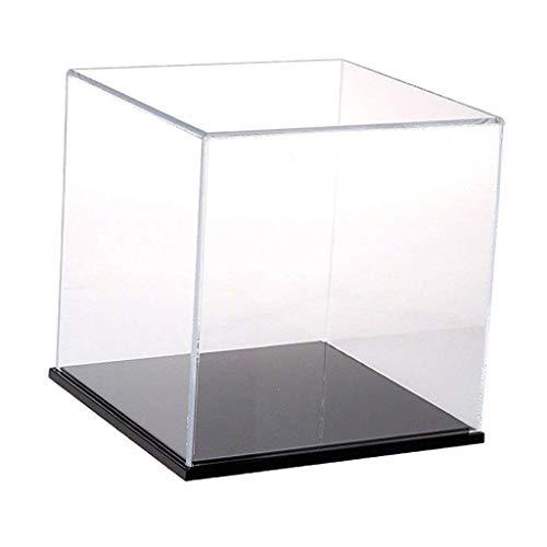 Backbayia Acrylique Caisse d'affichage Boîte Rangement de Protection Antipoussière Vitrine d'exposition Coffret Stockage Présentoir pour Poupée Modèle Figurine