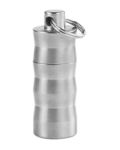 aiber Mini Titan Pille FOB Wasserfeste Parfüm Halter Anhänger Pille Fall mit Kette (Fob-mini)