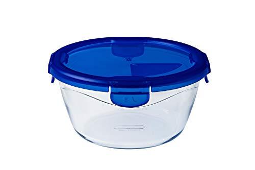 Pyrex - Cook & go - Boîte Ronde en Verre avec Couvercle Hermétique et Étanche Ø 20 cm - Cuisinez au Four, Conservez et Emportez