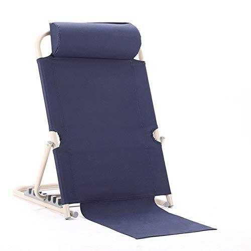 YMJJ Verstellbare Bett rückenlehne, Taille Stuhl Pflege Stuhl faul Stuhl, Bett Alter Mann zurück Halterung,Navy - Navy Stuhl Computer