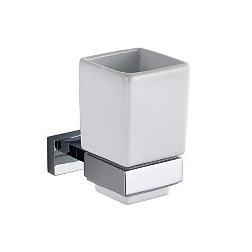 Glas-antik-zahnbürste-halter (AiRobin-Zeitgenössische Messing verchromt Wand Zahnbürste Cup Halter Badezimmer Zubehör)