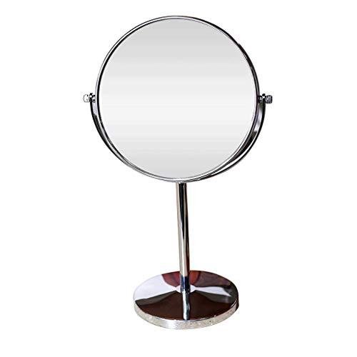 Jokeagliey Desktop Double-Sided Led Makeup Mirror Desktop Hd Fill Lens, 5X, 7X, 10X Female Beauty Magnifying Glass with Light,10x