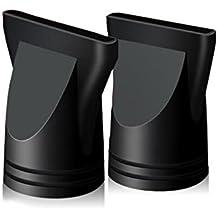 2 boquillas de plástico para secador de pelo, diseño amplio