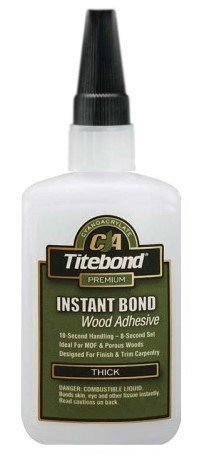 Instant Bond CA Adhesive, Thick 4 oz by - Titebond Ca