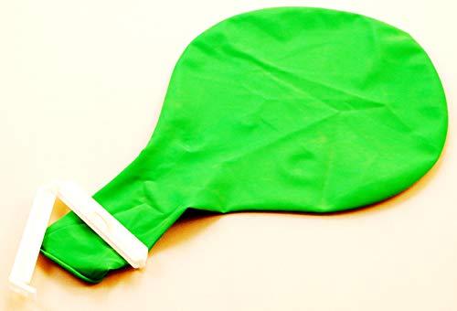 Die schönen Dinge Ballon Riesenballon Grün mit Verschluss Luftballon mit Clip groß 90cm Party Hochzeit Events Bewegung Kinderbetreuung Spiel Spaß Sport EINWEG-verpackt (Grün Clip)