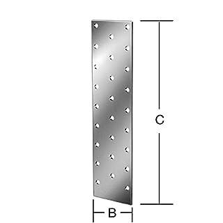 August Vormann + Co. Lochplatte Länge 60mm Breite 200mm 071044000