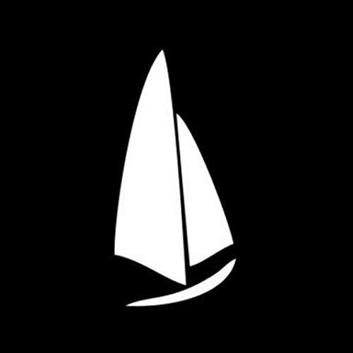Autoaufkleber 7,4 * 15,7 cm kühlste Segelschiff Dekor Auto Aufkleber Silhouette Vinyl Zubehör hohe Qualität 2 Stück