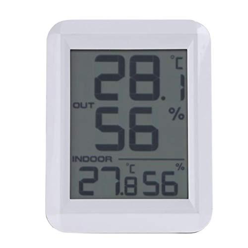 King Boutiques Weather Clock Digital LCD C/F Luftfeuchtigkeitsmessgerät Wecker Innenthermometer Hygrometer Wetterstation Haushaltsgegenstände