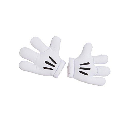 NEU Jumbo Maus-Handschuhe, weiß