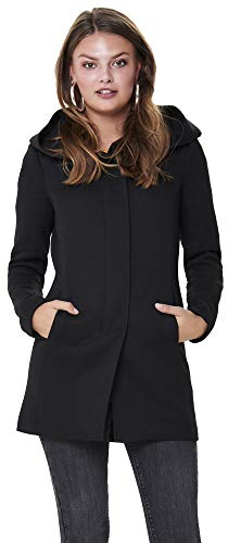 ONLY Damen Übergangsmantel Kurzmantel Damenmantel (XL, Black)