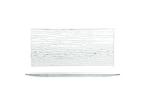 H&H Bambou, Assiette, Rectangulaire, 26x12 cm, Verre, Transparent