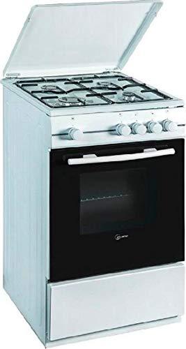 Cucina a Gas 4 fuochi con forno elettrico con grill 60x60 cm Bianco
